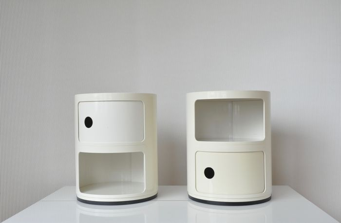 Anna Castelli Ferrieri For Kartell   Two Vintage Plastic Storage Cabinets    Mdoel Componibili S