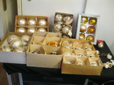 Lot of old Christmas baubles