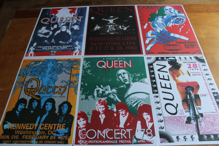Queen  - Set of 6 Concert Posters