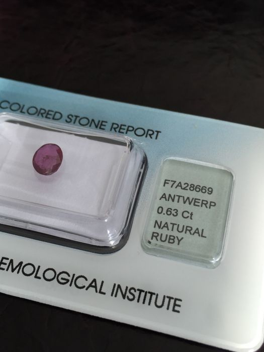 Ruby - Purplish Red - 0.63 ct