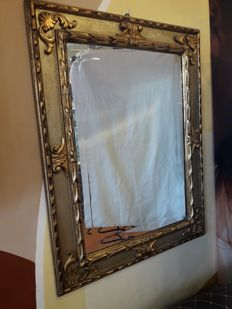 Mirror frame in carved wood - 1970