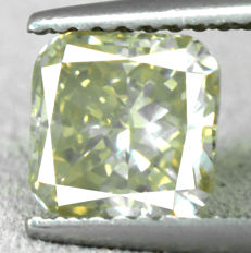 Diamond – 1.52 ct, VS2 – NO RESERVE PRICE - Natural Fancy Greyish Yellow