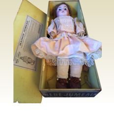 Tête / Bébé Jumeau, Diploma d'honneur, Jumeau doll in original Jumeau box with working mom and dad voice