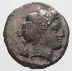 Greek Antiquity - Neapolis - AR Didrachm (320-300 BC)