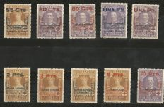 Spain 1927 - 25th Anniversary of the Constitutional Oath by Alfonso XIII. Red Cross - Edifil 373/387.