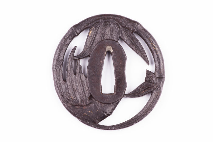 Iron Tsuba with NBTHK Hozon certificate, Bushu School - Japan - 18th/19th century