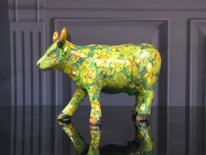 CowParade - Flora Cow - Medium Ceramic