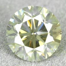Diamond - 1.77ct, natural fancy greyish yellow