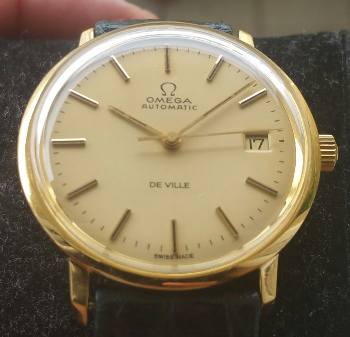 Omega – De Ville Plaque gold 40 mic. – 166.0134 – Men's – 1970-1979
