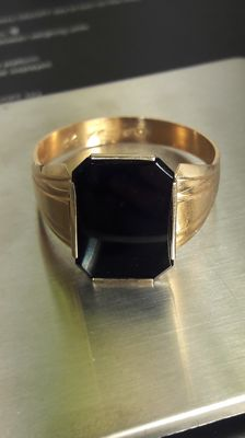 Vintage men's vintage 14K ring with Onyx, No Reserve, from 1966