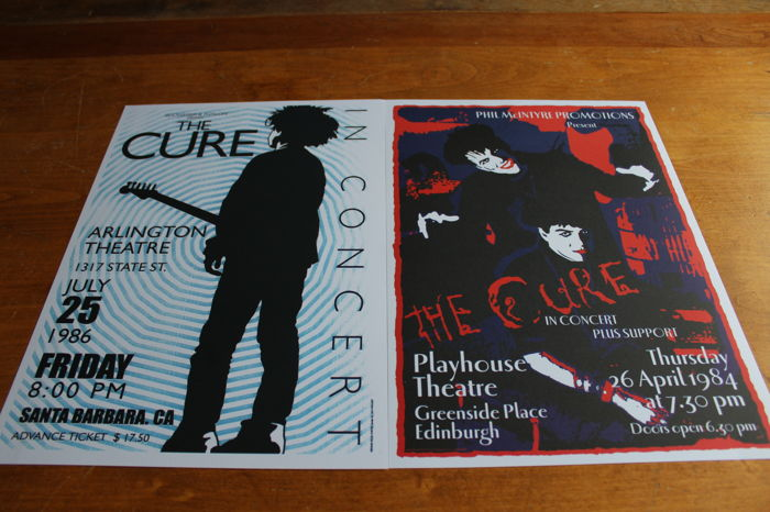 The Cure  - Set of 2 Concert Posters