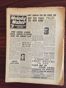 Music magazines; 12 rare issues of Melody Maker - 1946
