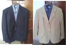 Burberry's - Lot fo two navy blue and dark beige jackets