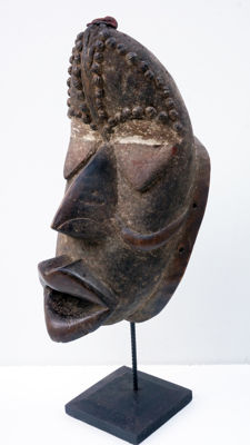 Large Guéré mask / Wé of Ivory Coast