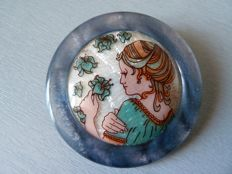 Rare vintage brooch from the first period by Lea Stein