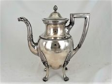 Silver empire cafetiere, Germany, 19th century.