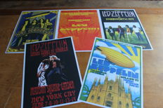 Led Zeppelin  - Set of 5 Concert Posters