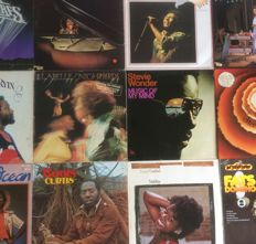 Lot of 12 albums; Stevie Wonder, Randy Crawford, Curtis Mayfield, Labelle, Billy Oceaan, Diana Ross, Marvin Gaye etc.