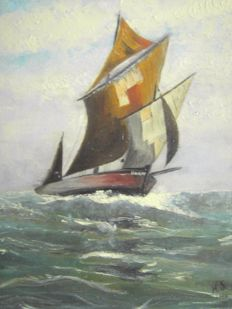 Unknown artist - Boat at sea