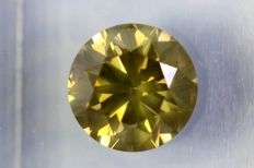 Diamond – 1.70 ct – Fancy Greenish Yellow – SI2