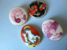 Lot of collector's brooches attributed to Lea Stein