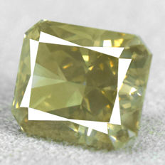 Diamond – 1.59 ct, SI1 – Natural Fancy Greyish Yellow
