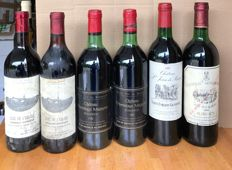 1976 Clos de l'Eglise , Bordeaux Supérieur- 2 bottles 75cl, 1981 Chateau l'Hermitage Mazeyres , Pomerol - 2 bottles 75cl, 1982 St Jean Béard , 1983 Chateau Monbrison , Margaux - 1 bottle 75clSaint Emilion Grand cru - 1 bottle 75cl, Total 6 bottles