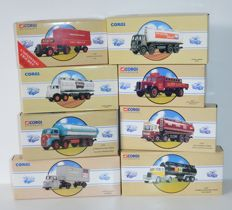 Corgi Classics - Scale 1/50 - Lot with 8 model vehicles: 4 x Tanker, 2 x Scammel, 1 x Bedford, & 1 x Truck