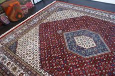 Handwoven original Indian carpet Oriental Bidjar approx. 302 x 251 cm in good condition India