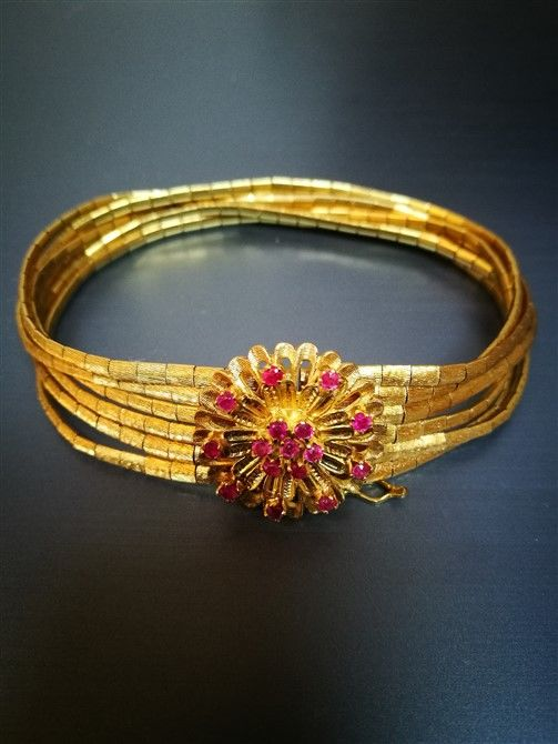 Women's bracelet in 18 kt gold