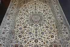Hand-knotted original Persian carpet, oriental Kashan , approx. 360 x 246 cm, good condition, Iran
