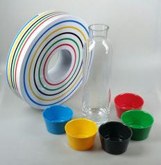 Marcel Wanders for Randstad Holding - decanter with cups and biscuit tin on the occasion of The Olympic Games.