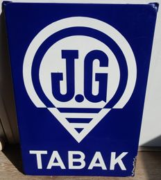 Enamel advertising sign - J.G. Tabak