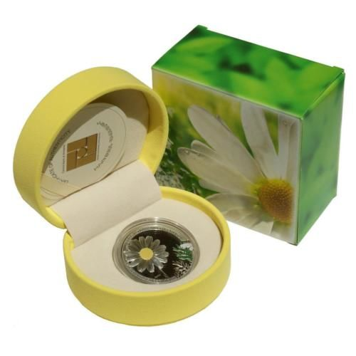 Armenia - 1000 Dram 2010 'Beauty of Flowers - Chamomile' - silver