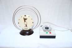 Two antique pieces - Radio celard type clock & camera timer or sensor