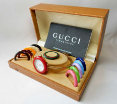 Gucci 1100-L vintage ladies' watch - Iconic piece from the 1980s - with rings/bezels and original case