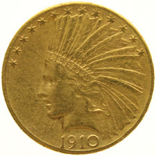 United States - 10 Dollars 1910D 'Indian Head' - Goud