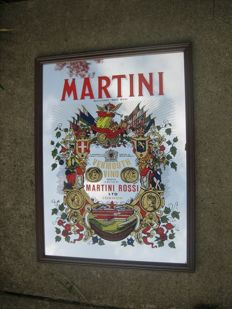 Martini & Cinzano bar mirror from Italy
