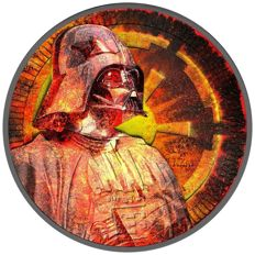 Niue – 2 Dollars 2017 'Darth Vader – Star Wars' with colour and black ruthenium - 1 oz silver