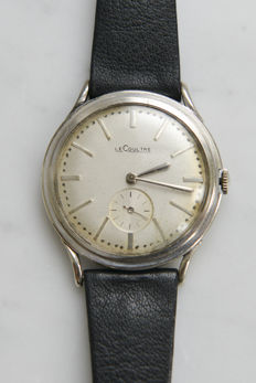 LeCoultre, Solid 14K White Gold.- 1950's One-Off watch.