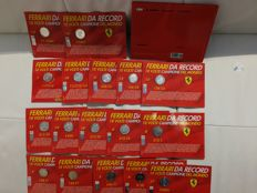 Ferrari, complete collection of 18 Record medals - Limited Edition, official products, with book and insert with technical data of Ferrari cars that made history