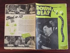 Jazz magazines; 22 unbound issues of Down Beat  - 1946/1947