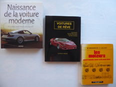 Lot of 3 books - L'automobile moderne/ Voitures de rêve / Les moteurs - 2001/2003