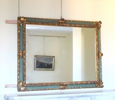 Mirror frame in lacquered and gilt wood, Italy, late 19th century