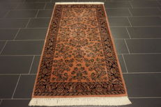 Magnificent hand-knotted Indo Sarough Saruk Sarough 105 × 200 cm Top quality made in India in late 20th century