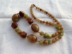 Lucite necklace with beautiful colours