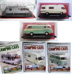 Hachette - Scale 1/43 - Lot with 3 models: 3 x Campers, Airstrea Excella 280 Turbo, Maillet Eric 3 on Peugeot J7 and Mikafa Reisemobil
