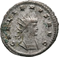 Roman Empire - GALLIENUS (253-268 AD), Æ Antoninianus. Antioch, sole reign (Virtvs) - 21mm; 3.74g / RIC 669