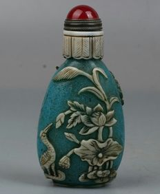 Glass snuff bottle - China, late 20th Century