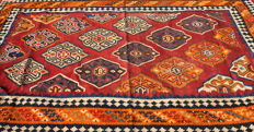 Rare  1950s Kilim Oriental Rug from the Kaskat Region in South Iran